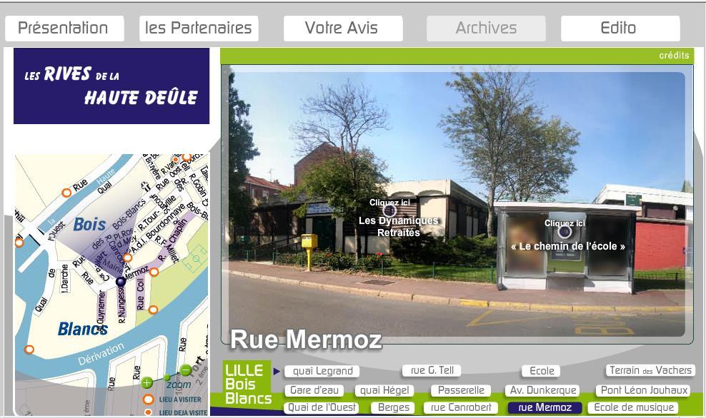 Visite Virtuelle du quartier des Bois Blancs à Lille